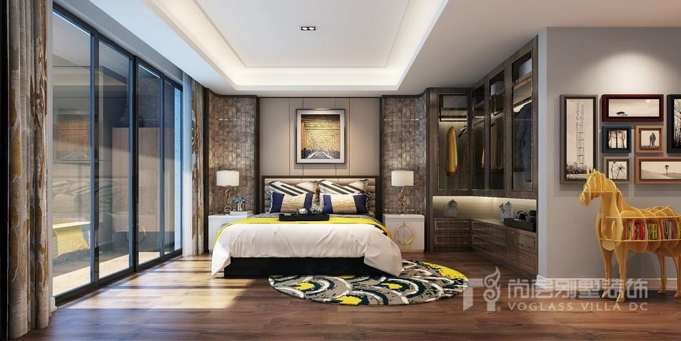 新中式风格泰禾红御卧室装修效果图