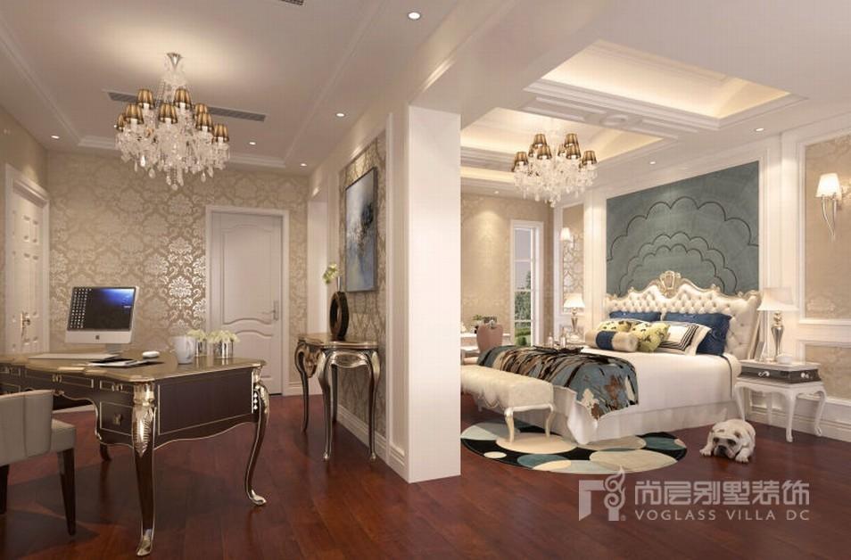 装修设计中搭配欧式新古典餐椅及灯具的选择,使灿辉晶华别墅的空间感