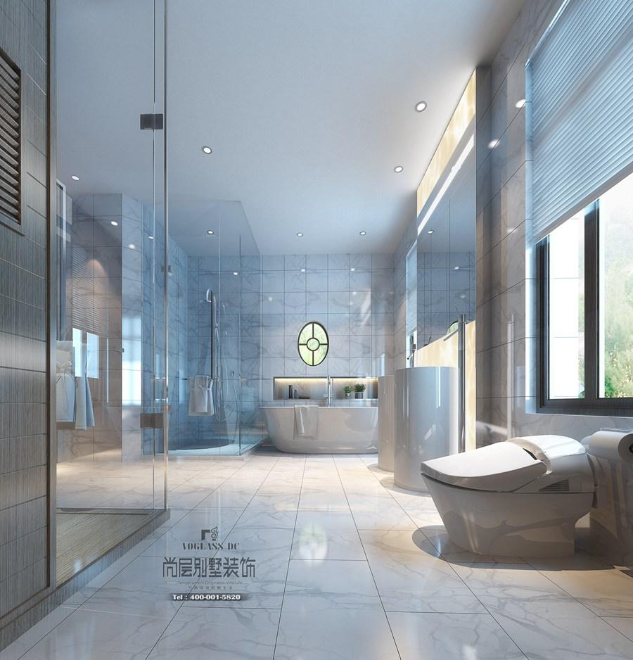 卫浴间装修效果图-别墅装修设计极简风格