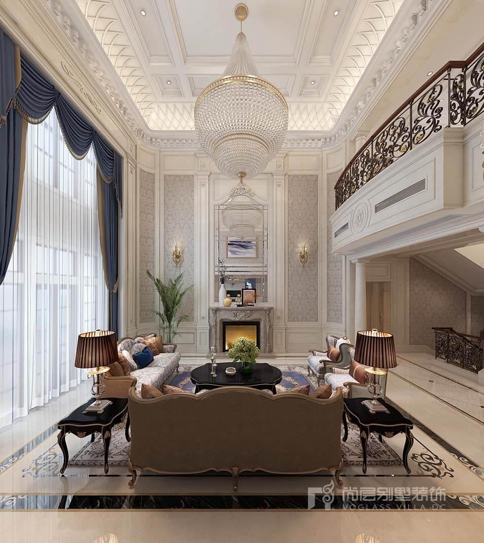 880平米法式风格别墅装修_据说有钱人都这样装,时髦到
