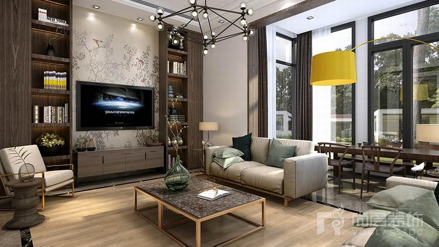 北欧风格别墅客厅装修设计效果图