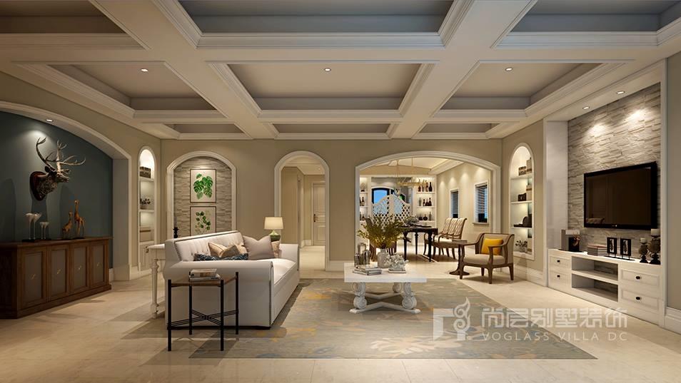 水秀庭院美式风格客厅效果图