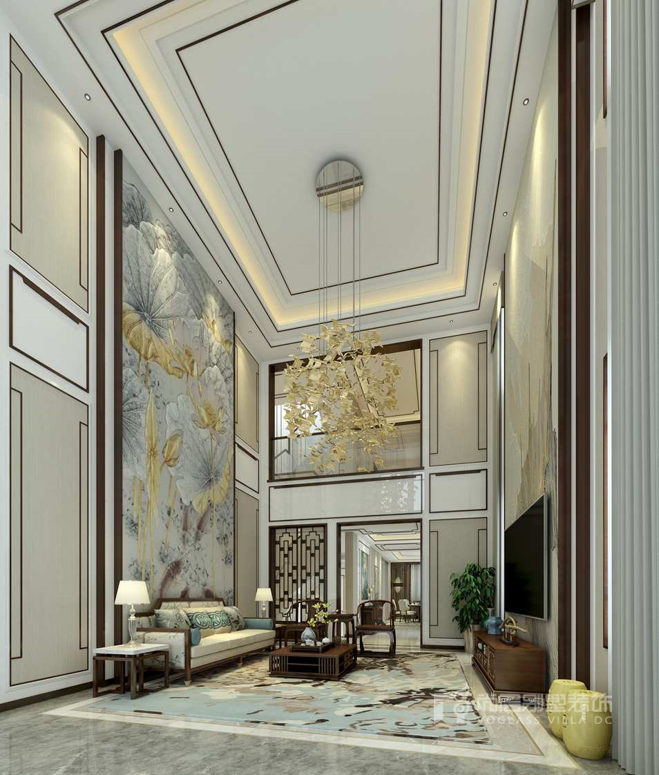 >正文    新中式别墅客厅装修是中式与现代居室风格的碰撞,设计师以