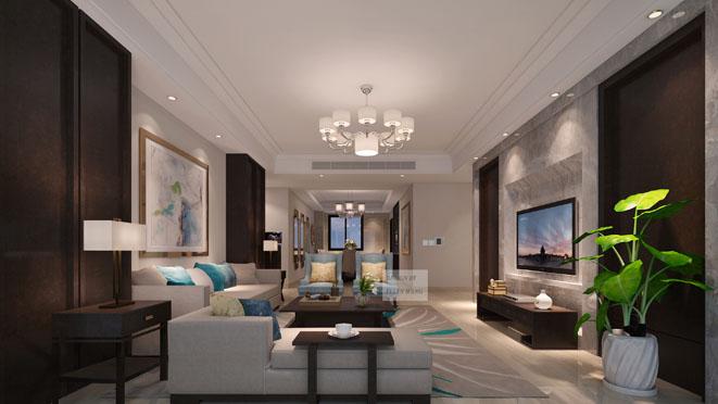 新中式风格客厅装修设计效果图