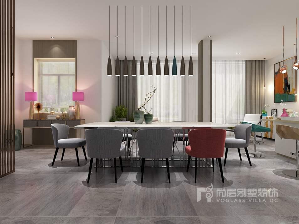 碧桂园现代风格餐厅别墅装修效果图