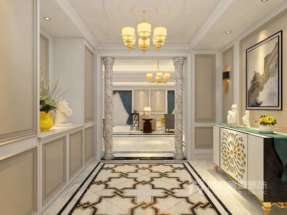 金地中央世家新装饰门厅别墅装修效果图