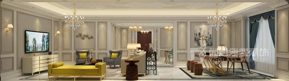 金地中央世家新装饰客厅别墅装修效果图