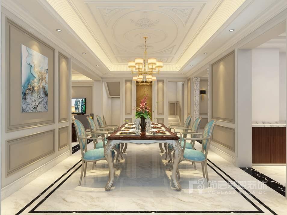 金地中央世家新装饰餐厅别墅装修效果图