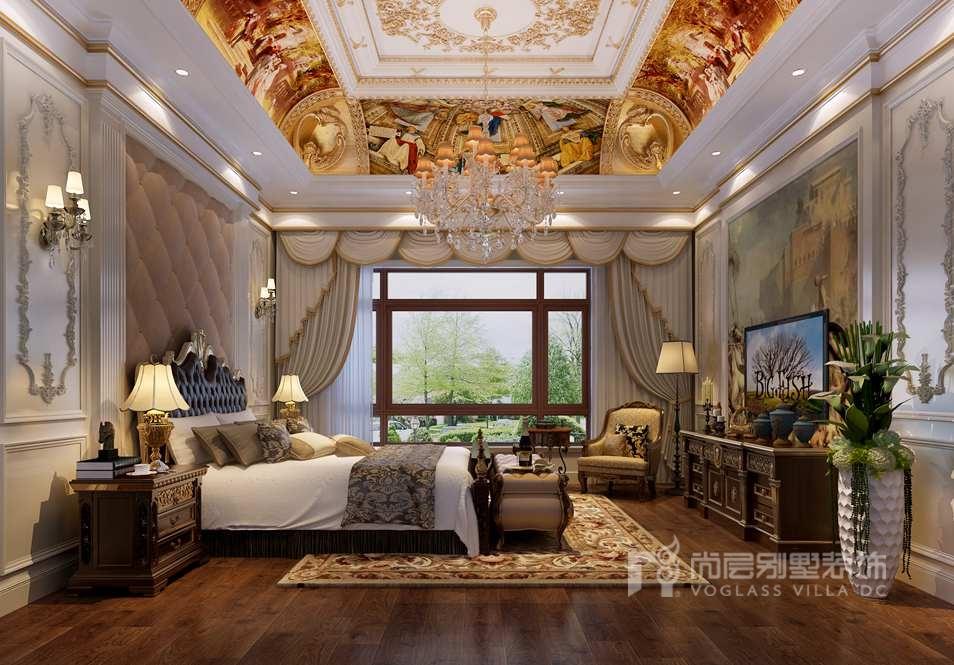 三层主卧大别墅卧室装修效果图从欧室内的结构规划到卧室顶部经典