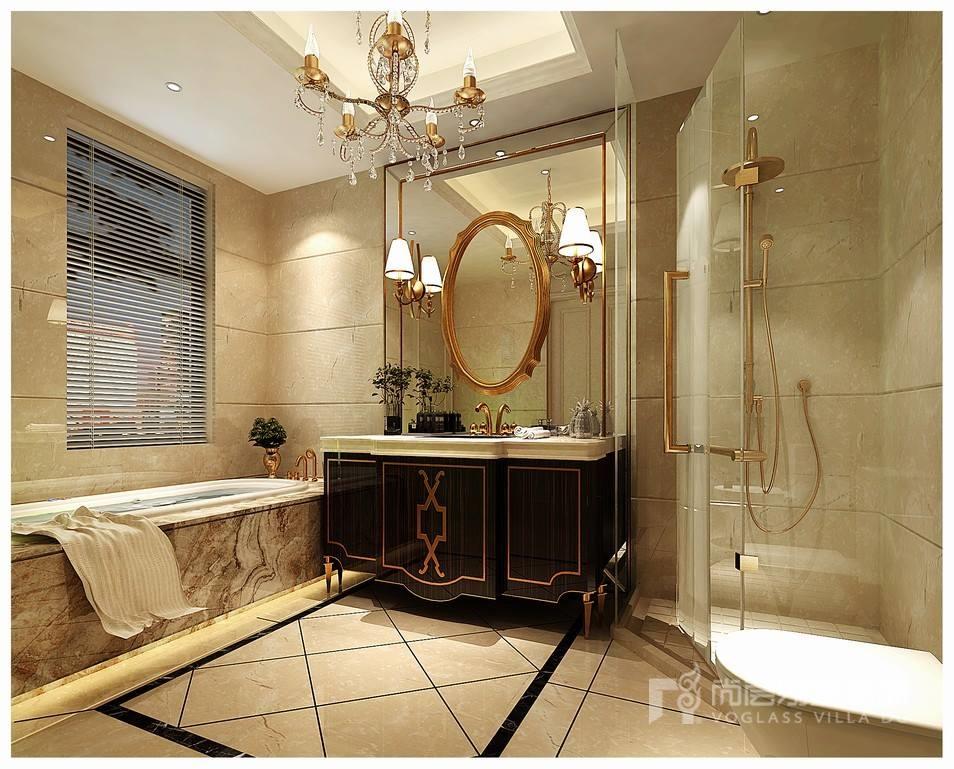 欧式风格别墅卫生间装修效果图