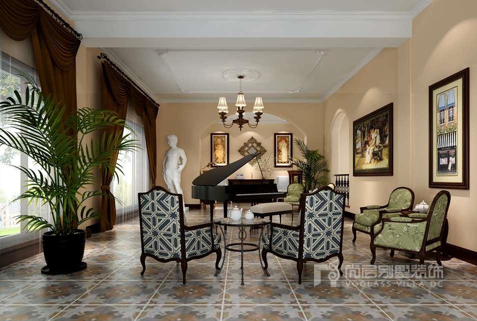 君山高尔夫托斯卡纳风格钢琴区别墅装修效果图