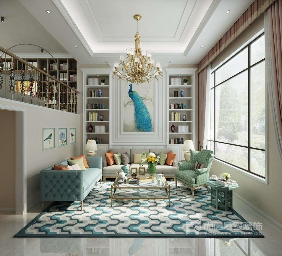 优山美地现代风格客厅别墅装修效果图