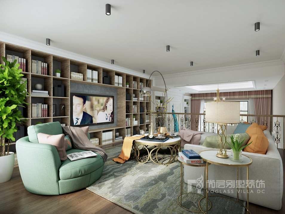 优山美地现代风格起居室别墅装修效果图