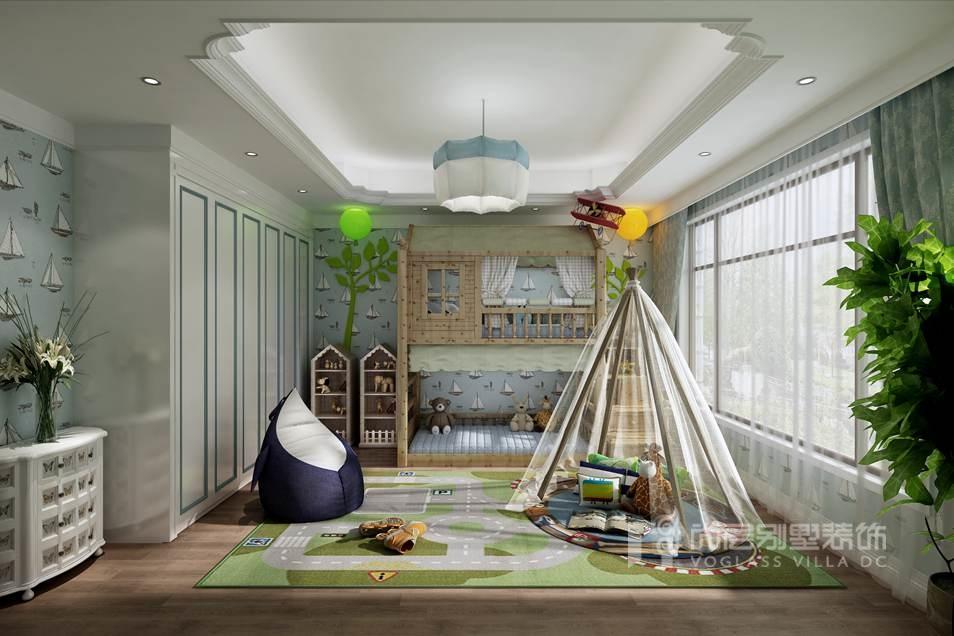 优山美地现代风格男孩房别墅装修效果图