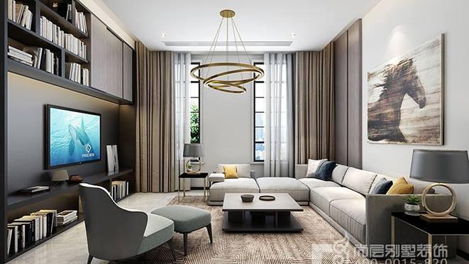 中式混搭复式别墅装修设计效果图案例