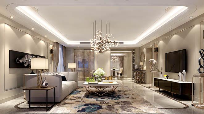泛海国际混搭风格客厅别墅装修效果图