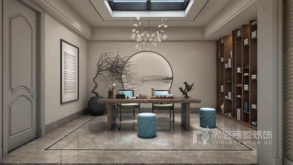 如木墙,木柜,木顶的茶楼适合装长方形木制灯,配有铁质品的咖啡厅适合