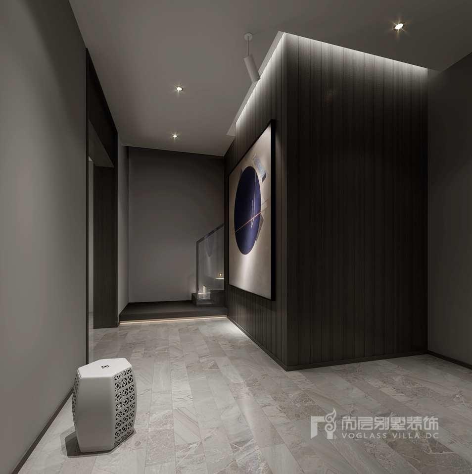 首开琅樾现代简约门厅别墅装修效果图
