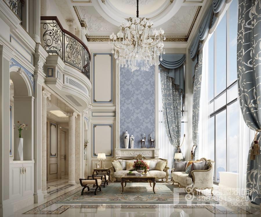 别墅挑高客厅装修注意事项_挑高客厅装修效果图_杭州