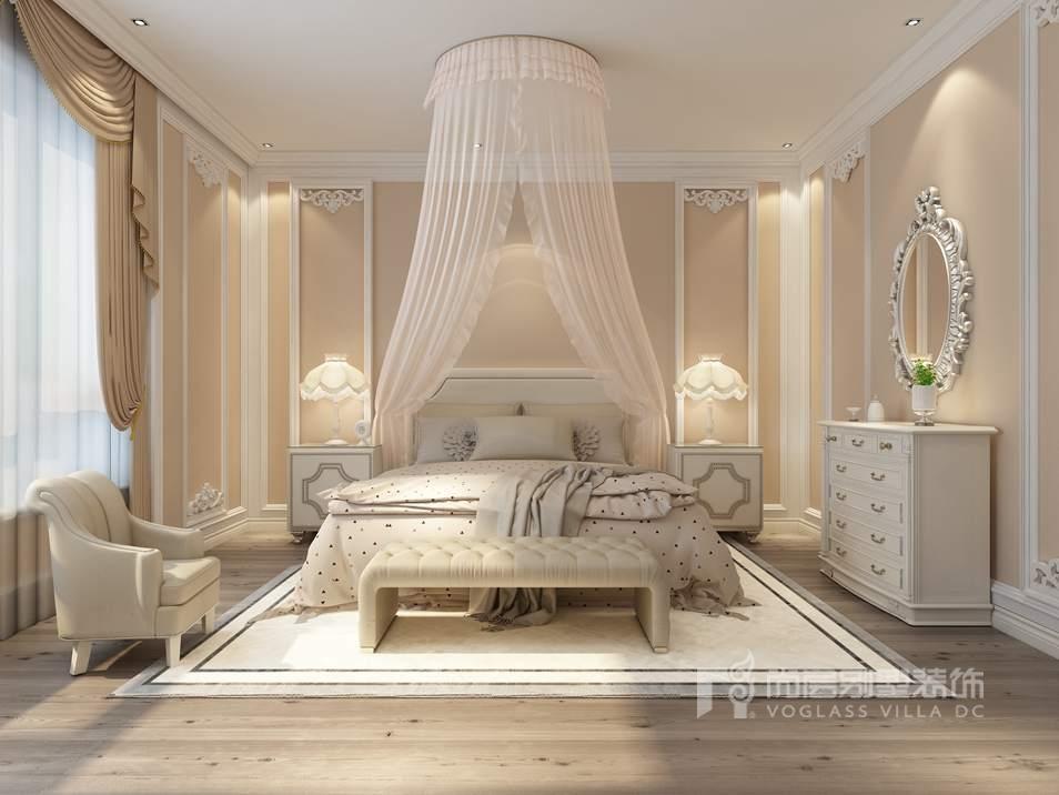 新世界丽樽美式简约女儿房别墅装修效果图