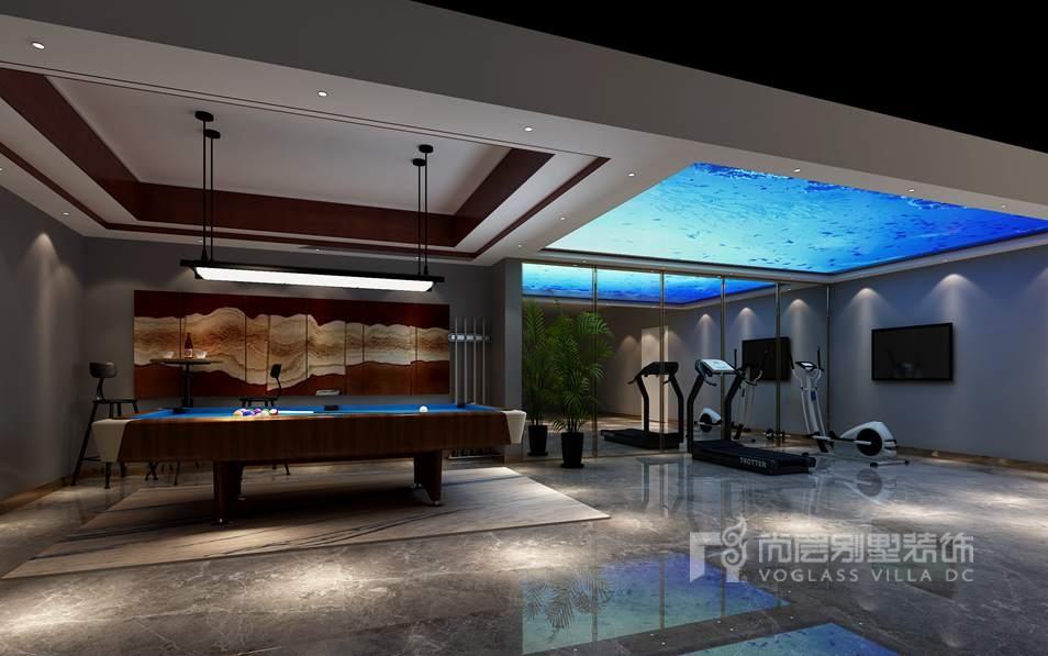 新世界丽樽美式简约娱乐室别墅装修效果图