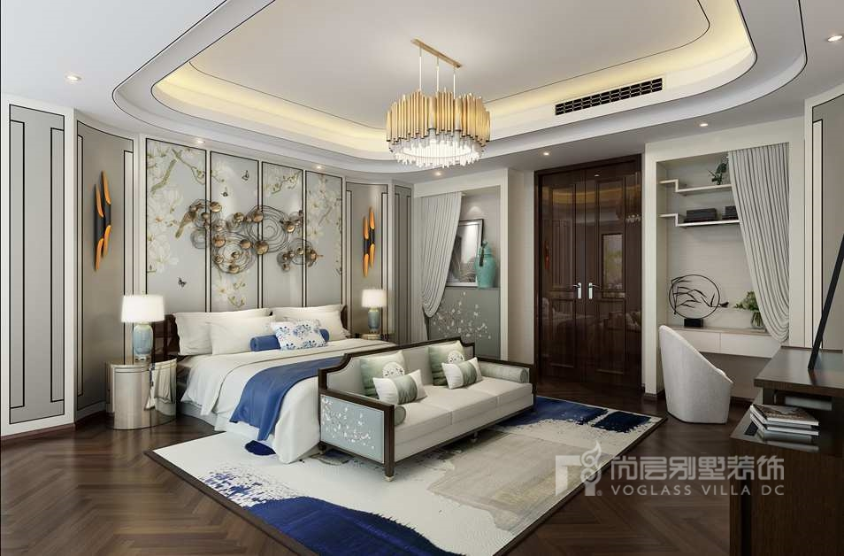 丽樽中式别墅装修卧室效果图