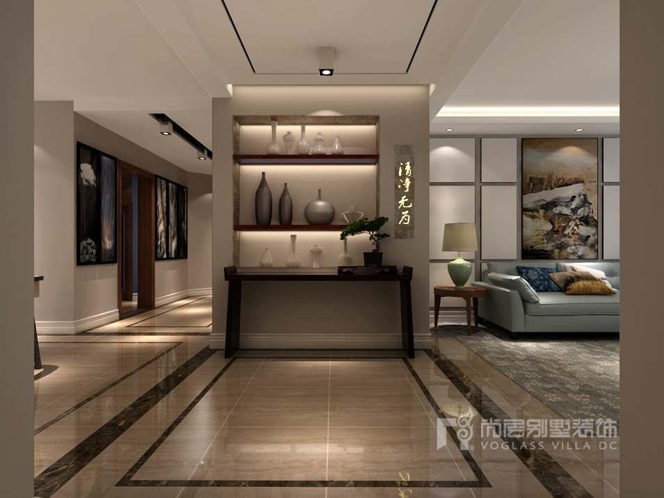 東湖灣230平方米別墅簡歐裝修風格,用設計感知生活的美