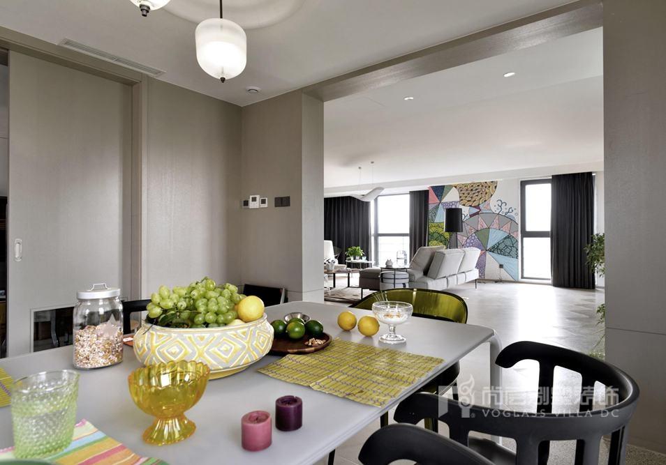 300平方米别墅设计案例-餐厅实景图