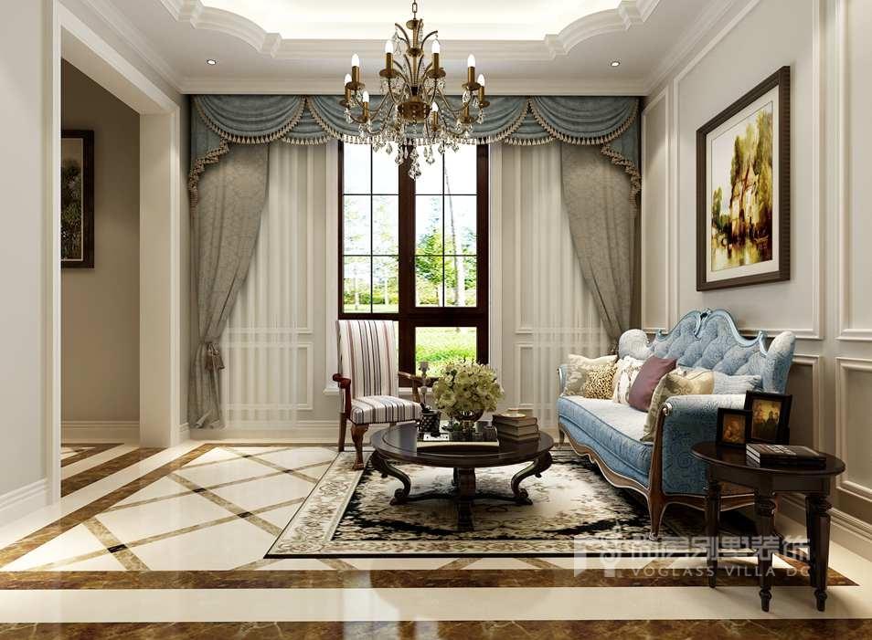 御汤山美式风格家庭室别墅装修效果图