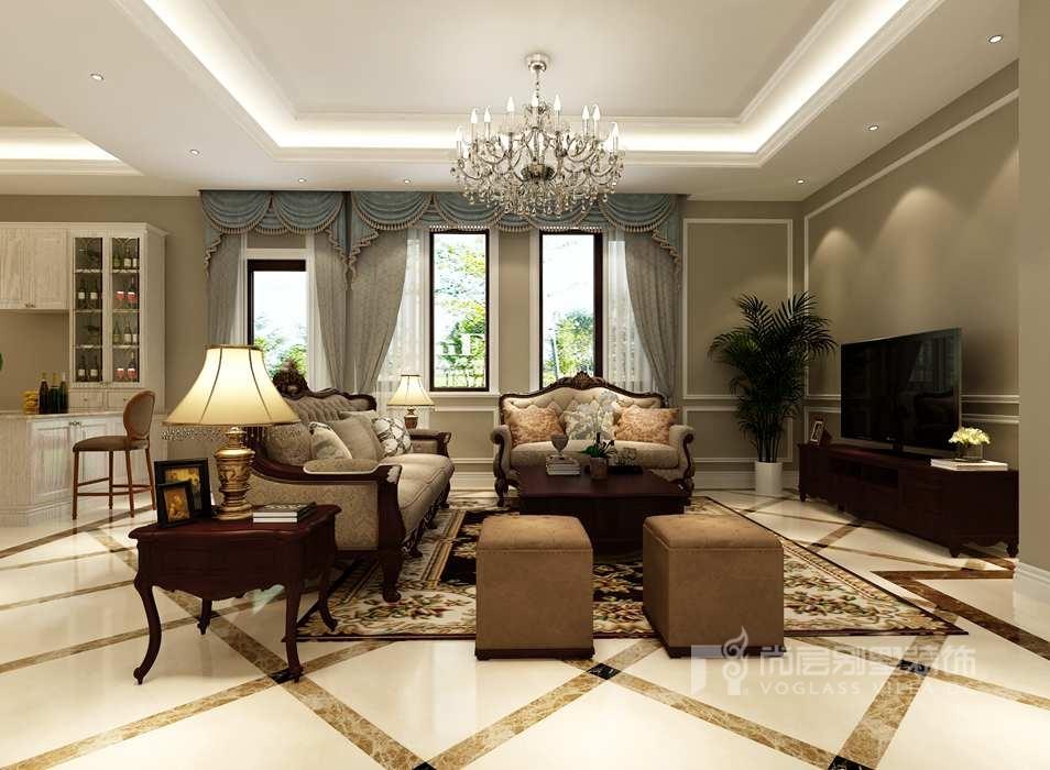 御汤山485平方米优雅美式住宅,构筑悠然生活态度!图片
