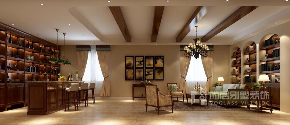 御汤山美式风格休闲室别墅装修效果图