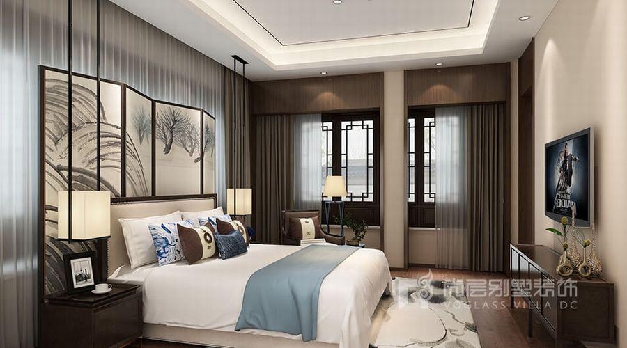 中式 别墅装修设计 的特点,为了避免颜色过于单调,设计师巧妙运用地毯图片