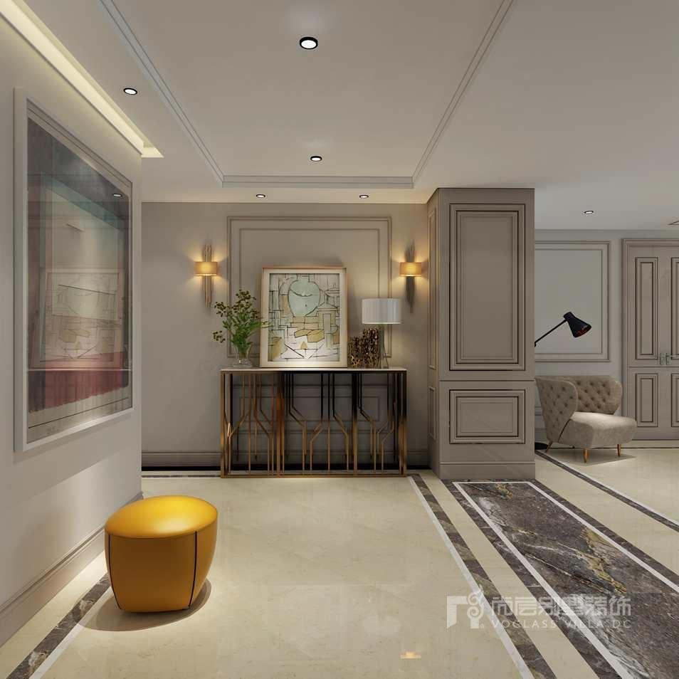 通用时代国际公寓现代门厅别墅装修效果图