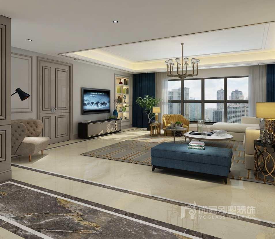 通用时代国际公寓现代客厅别墅装修效果图