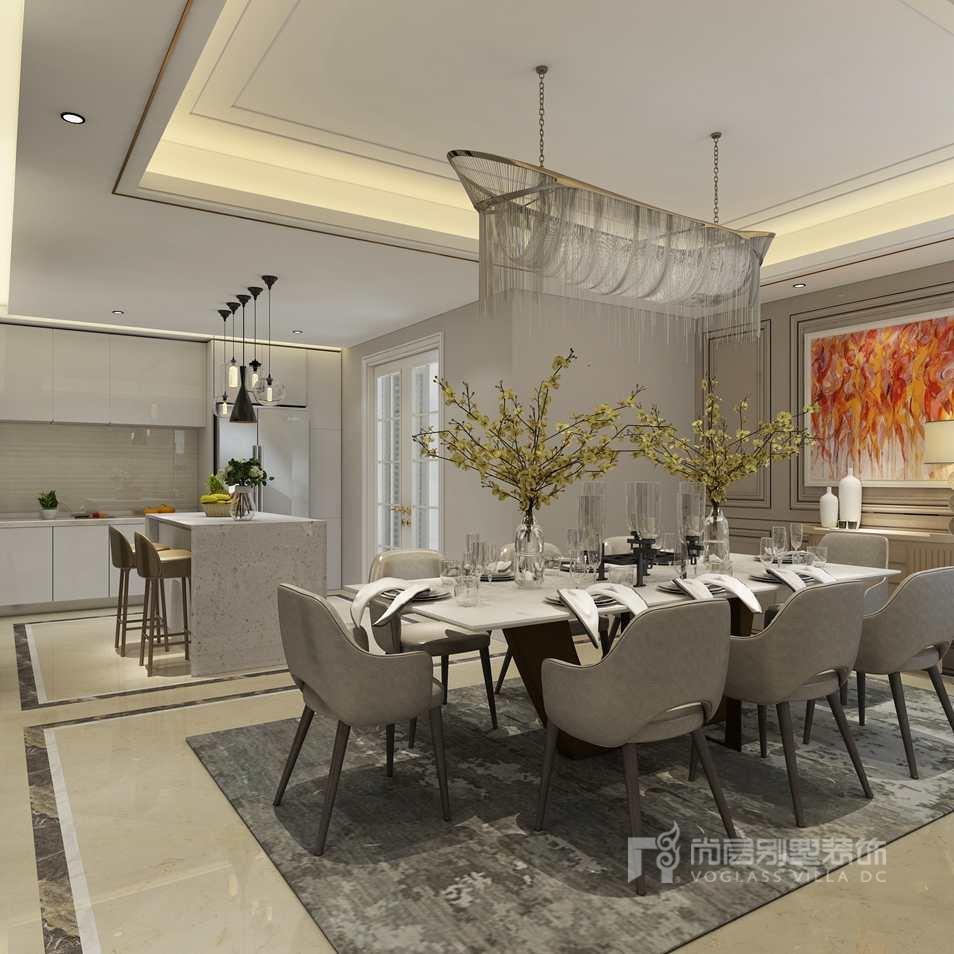 通用时代国际公寓现代餐厅别墅装修效果图