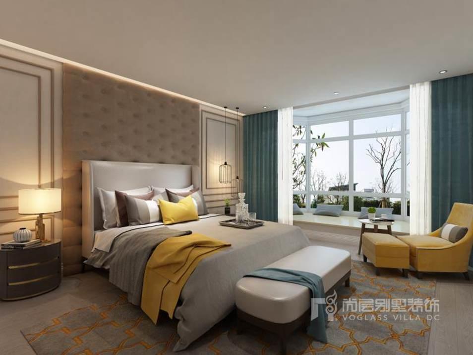 通用时代国际公寓现代卧室别墅装修效果图