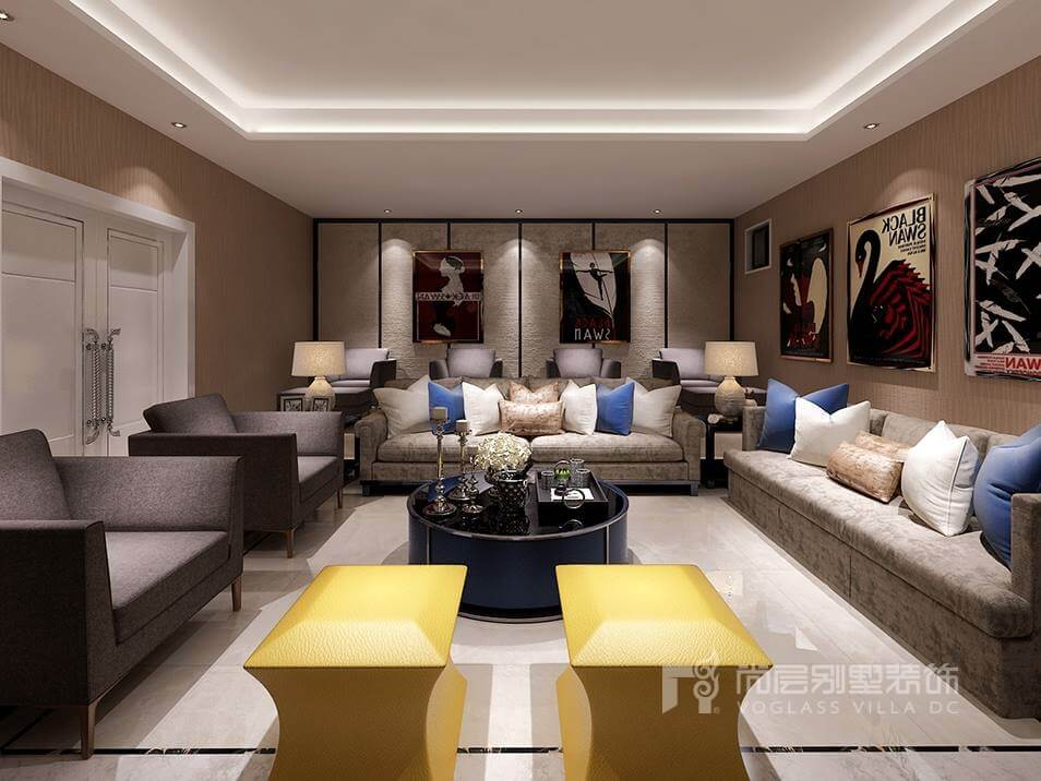 300平米現代風格別墅裝修效果圖_營造時尚前衛