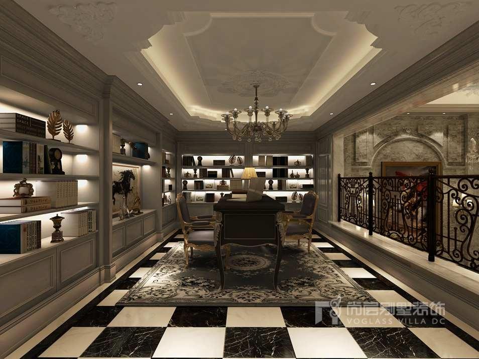 橱柜暖白的装饰面板与胡桃木的面板结合使空间奢华而又不失温馨,再配