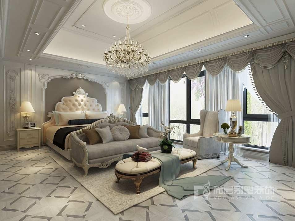 金地中央世家法式轻奢主卧别墅装修效果图