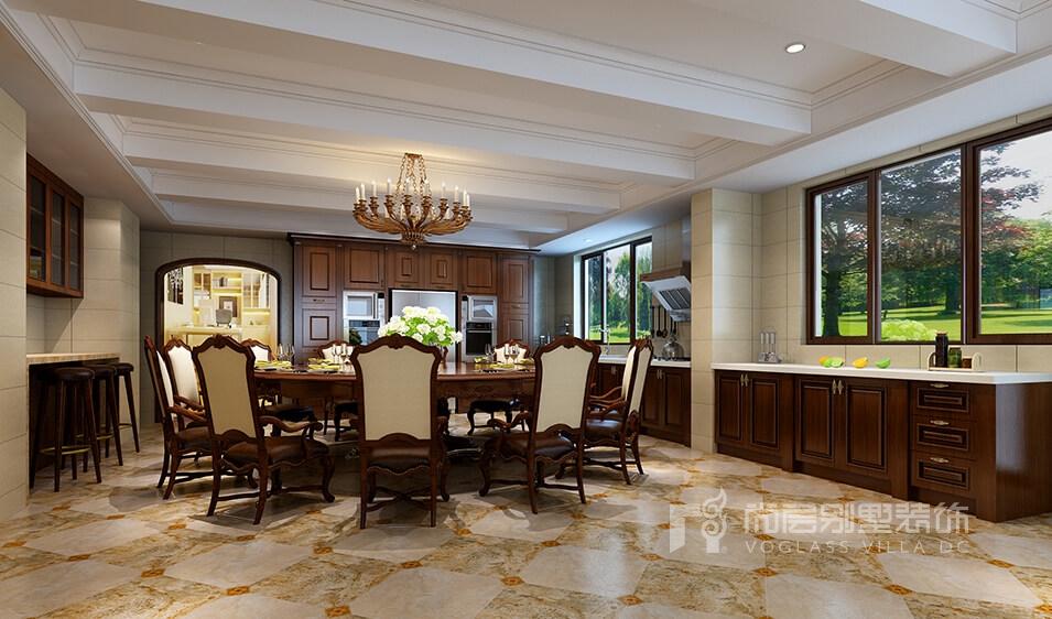 山河水670平美式别墅装修设计_尽显浪漫优雅