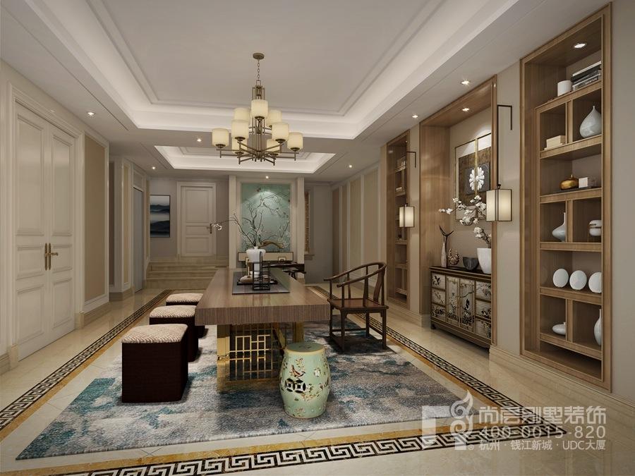 欧式风格装修别墅茶室效果图-杭州尚层装饰