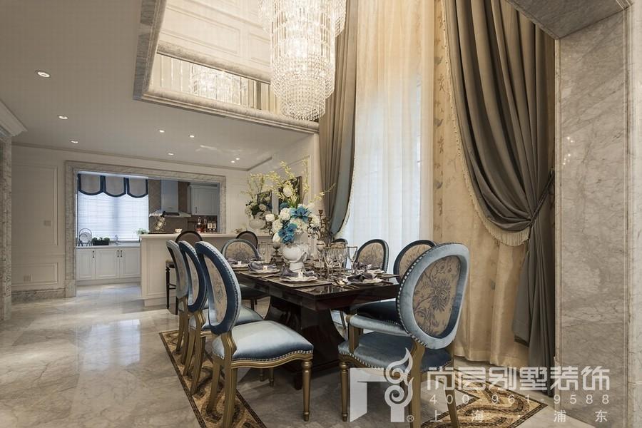 法式风格别墅餐厅装修设计效果图