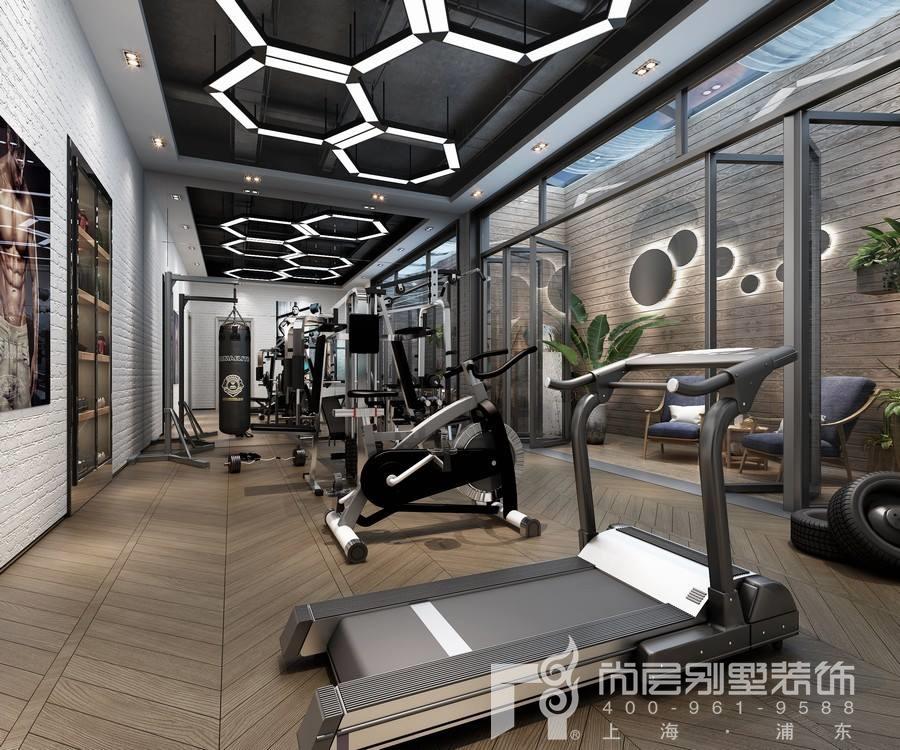 东郊罗兰别墅地下室健身房装修效果图