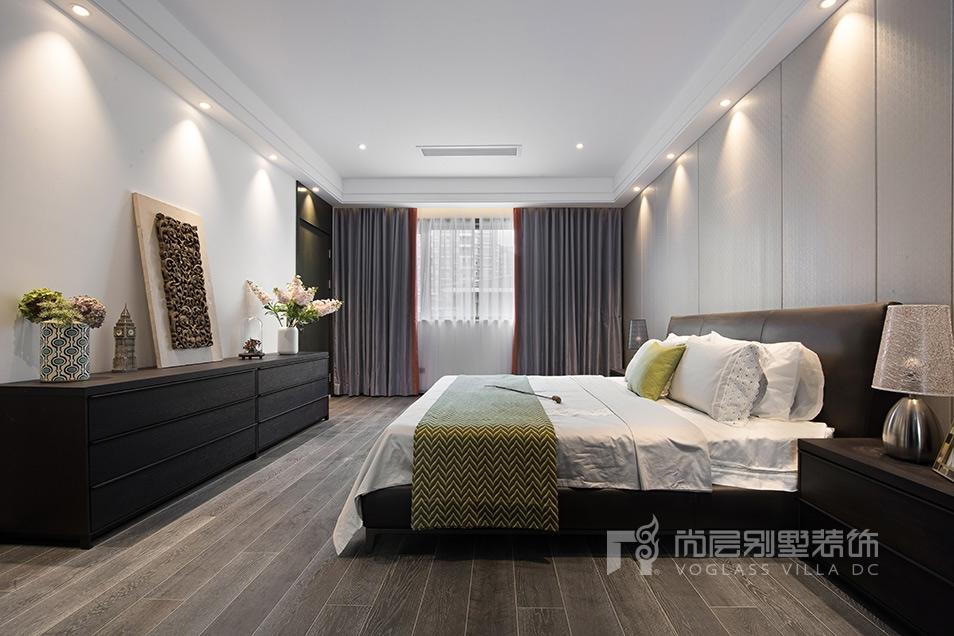 昆山市花都艺墅现代简约风格卧室客厅装修实景图