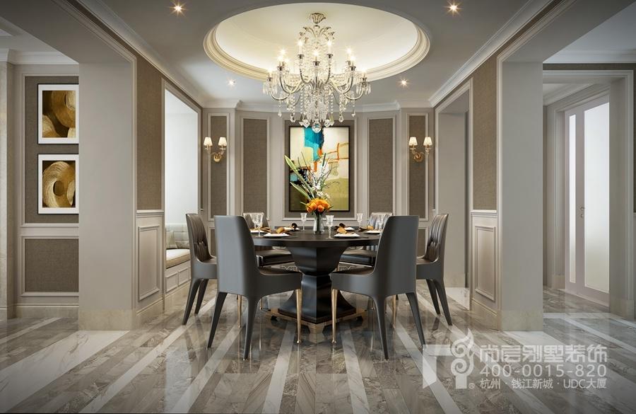 小法轻奢风格          500方小法式风格别墅装修客厅的设计中是法式