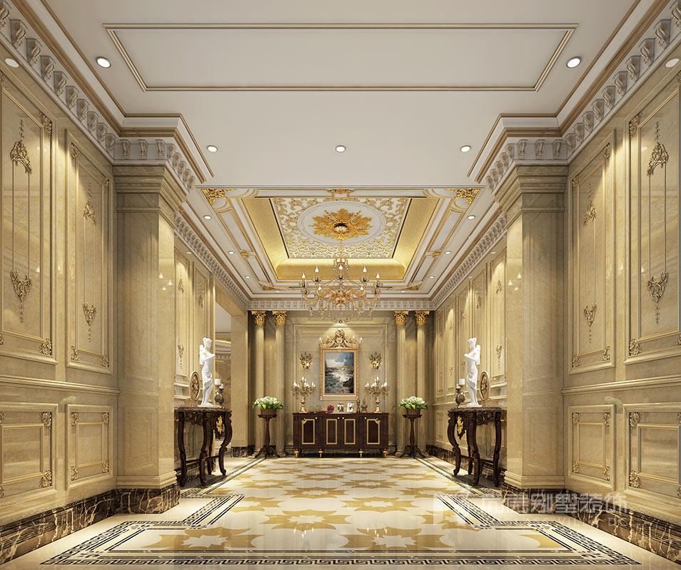 金科王府欧式风格门厅装修效果图
