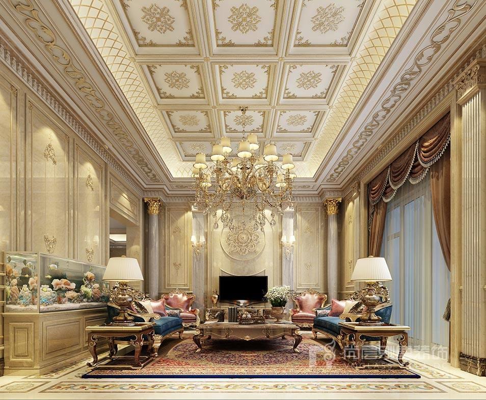 金科王府欧式风格客厅装修效果图