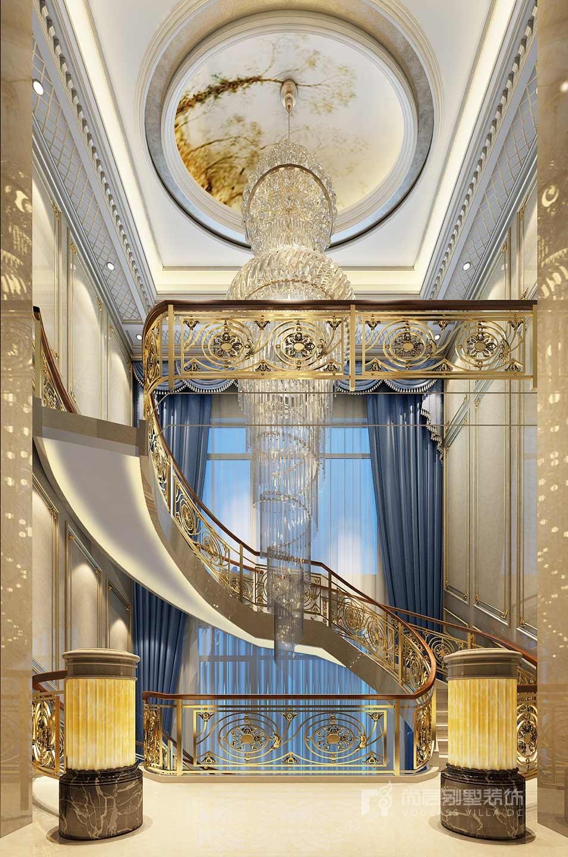 金科王府歐式風格樓梯間裝修效果圖