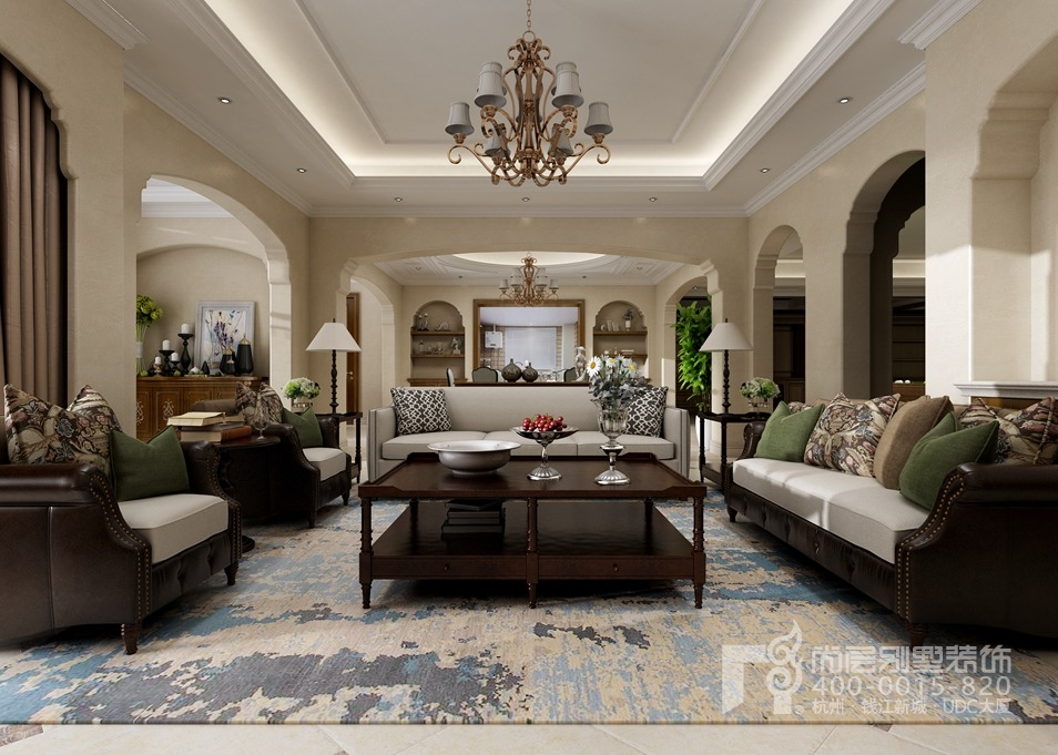 别墅新中式装修风格设计图