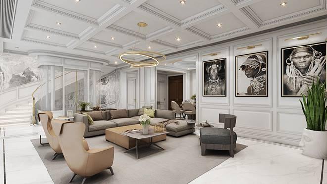 多层别墅现代极简风格装修设计图